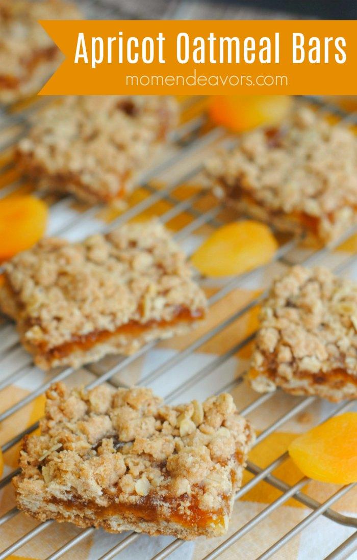 Apricot Oatmeal Crumble Bars