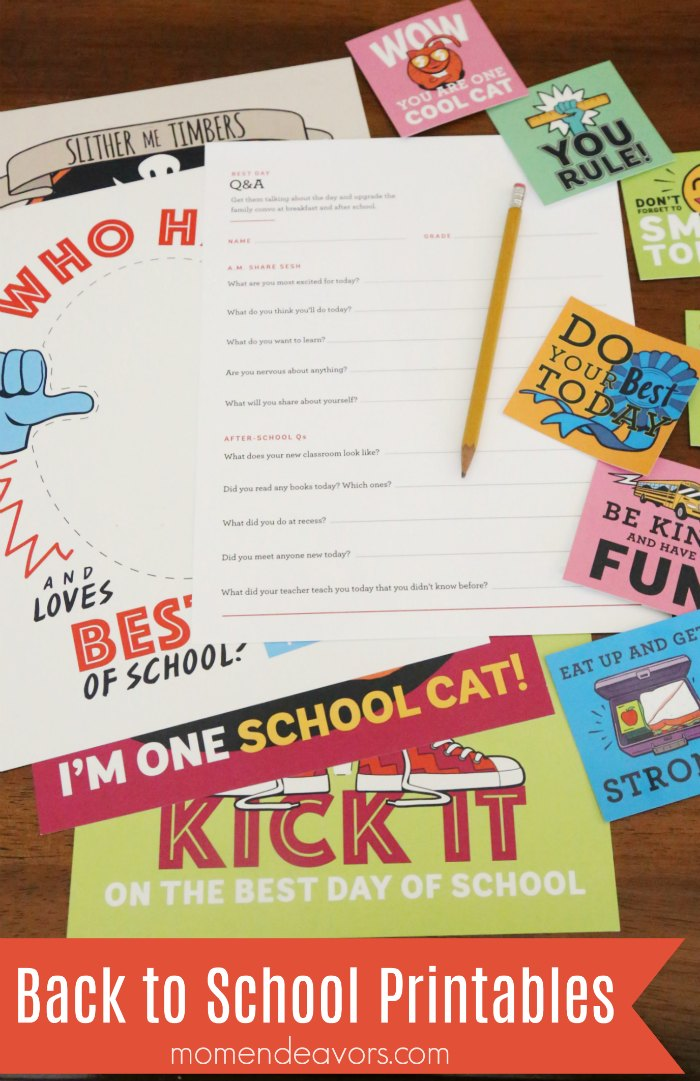 It's just a photo of Impertinent Back to School Printable
