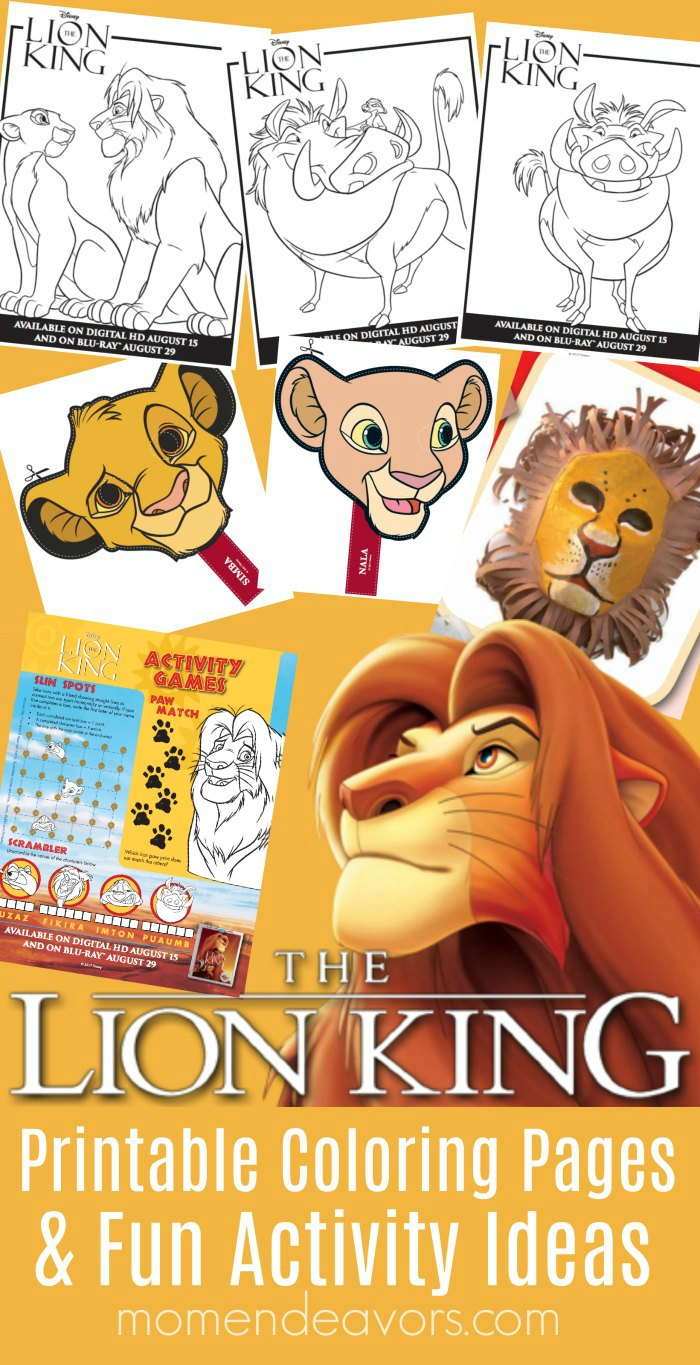 disney s the lion king printable coloring pages activity ideas