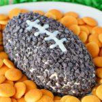 Football-Shaped Chocolate Chip Dip