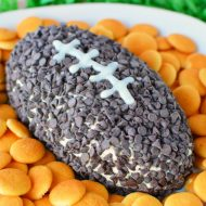 Chocolate Chip Football Cheese Ball