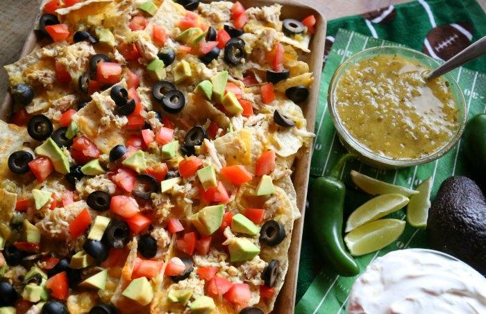 Loaded Sheet Pan Salsa Verde Nachos