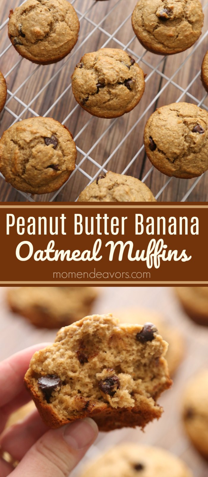 Peanut Butter Banana Oatmeal Muffins Recipe