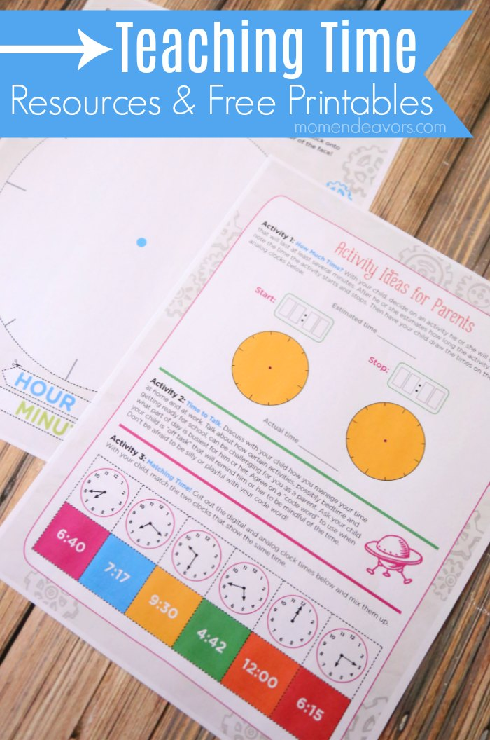 Teaching Time Free Resources & Printables