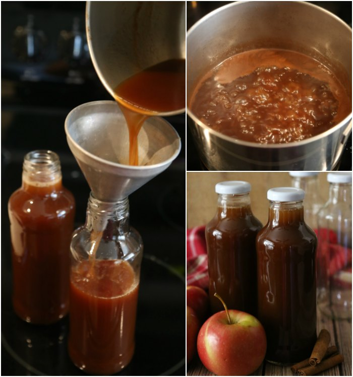 Bottling Apple Cider Syrup