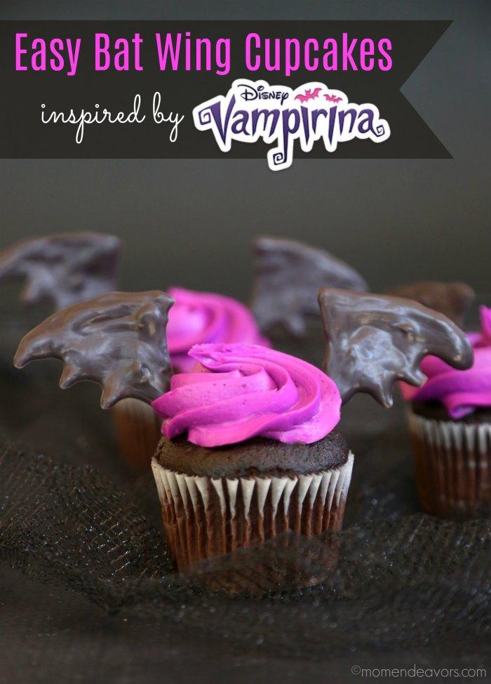 Disney Vampirina Bat Wing Cupcakes