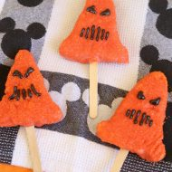 Disney Cars Land Spoke-y Cone Halloween Krispie Treats