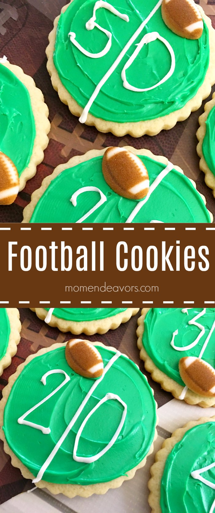 Easy Football Field Cookies
