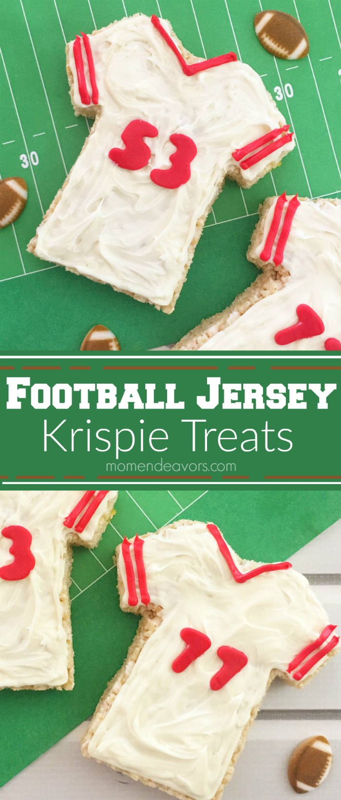 Football Jersey Krispie Treats