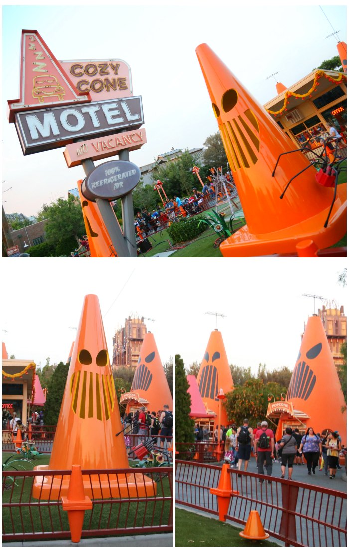 Halloween Cars Land Spoke-y Cones