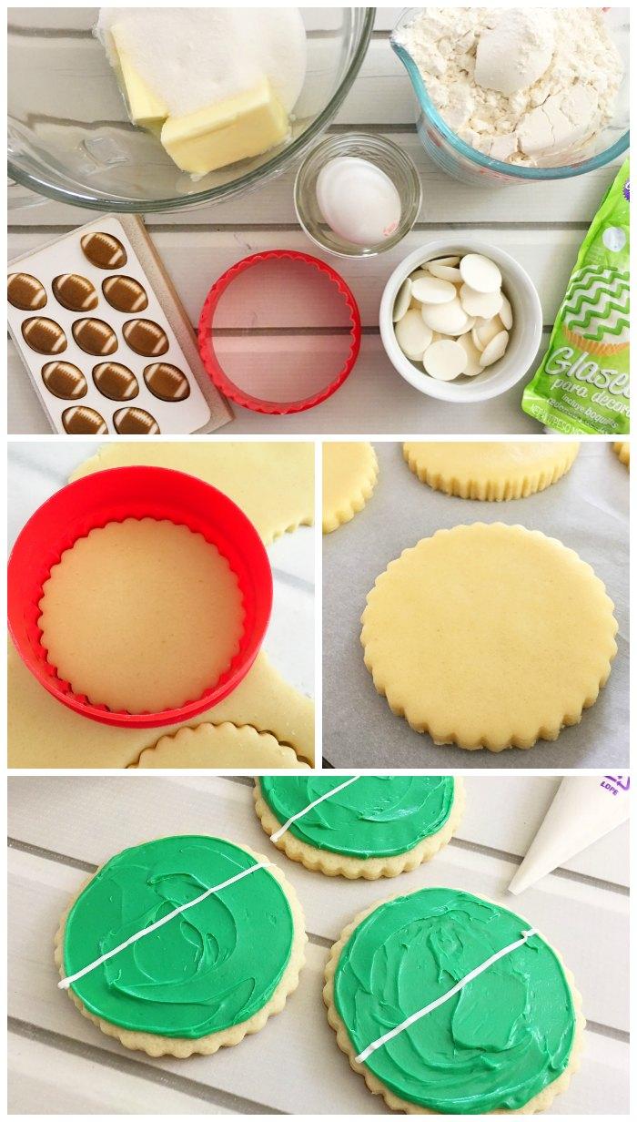 Making Football Cookies
