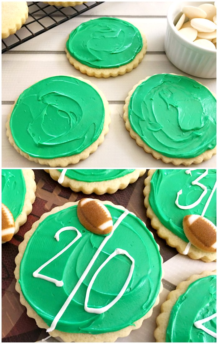Simple Football Cookies