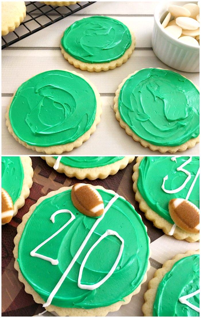 Easy Football Field Cookies
