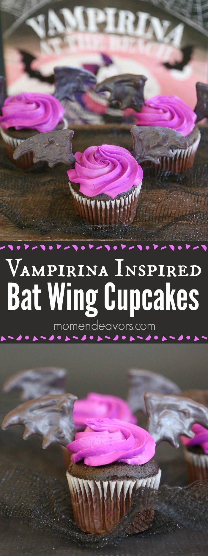 Vampirina Bat Wing Cupcakes