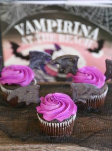 Vampirina Easy Bat Wing Cupcakes