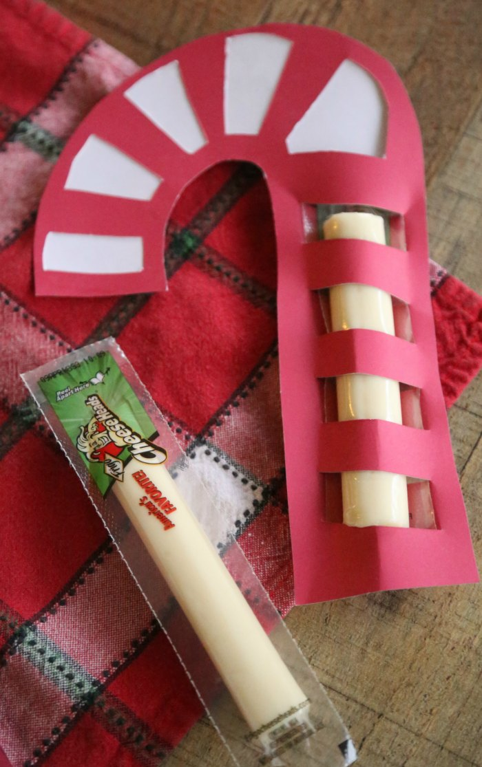 Candy Cane Cheese Stick