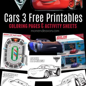 Cars 3 Free Printables
