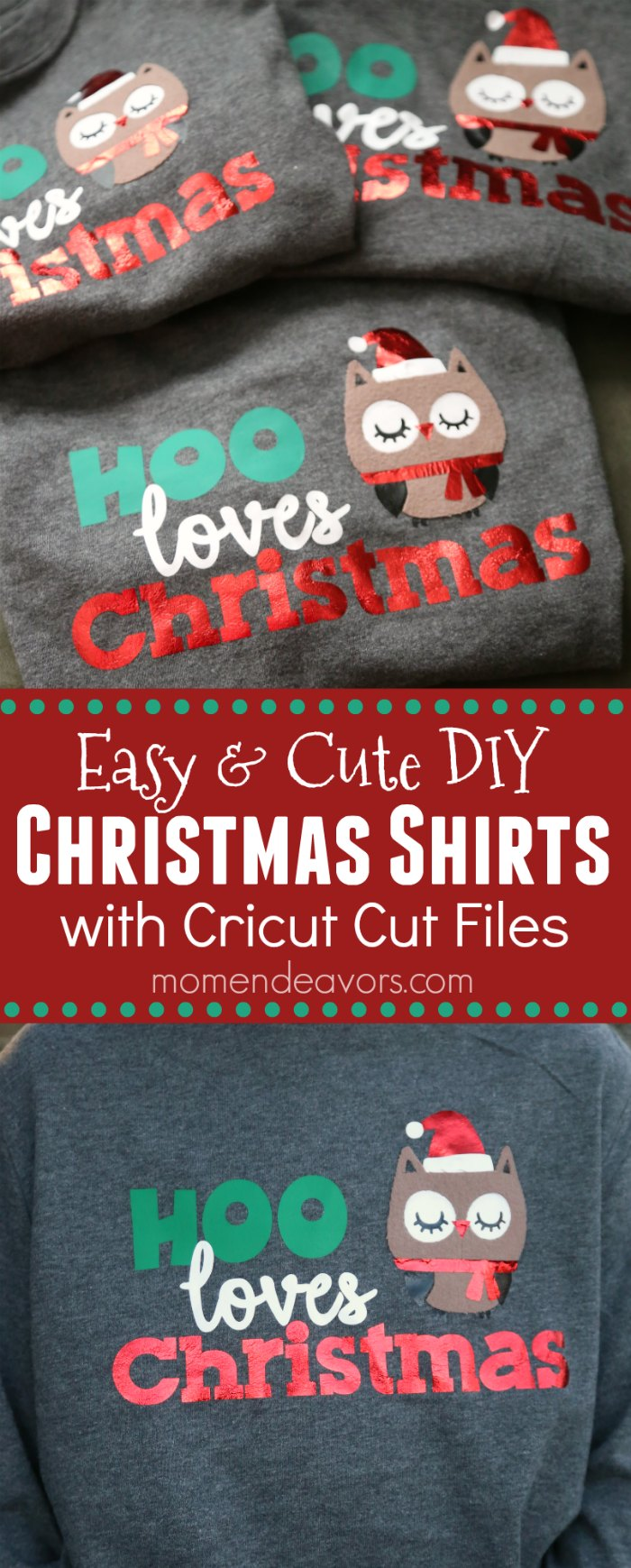 Cute DIY Christmas Shirts for Kids