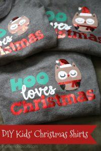 DIY Kids' Christmas Shirts