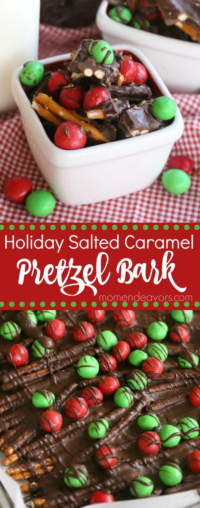 Holiday Salted Caramel Pretzel Bark Recipe
