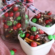 Holiday Salted Caramel Pretzel Bark