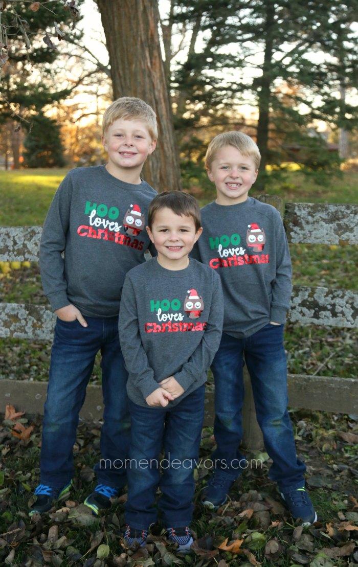 Cute Kids' Christmas Shirts + Cricut Cut File