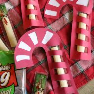 Christmas Snack: String Cheese Candy Canes
