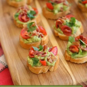 Bacon Avocado Bruschetta