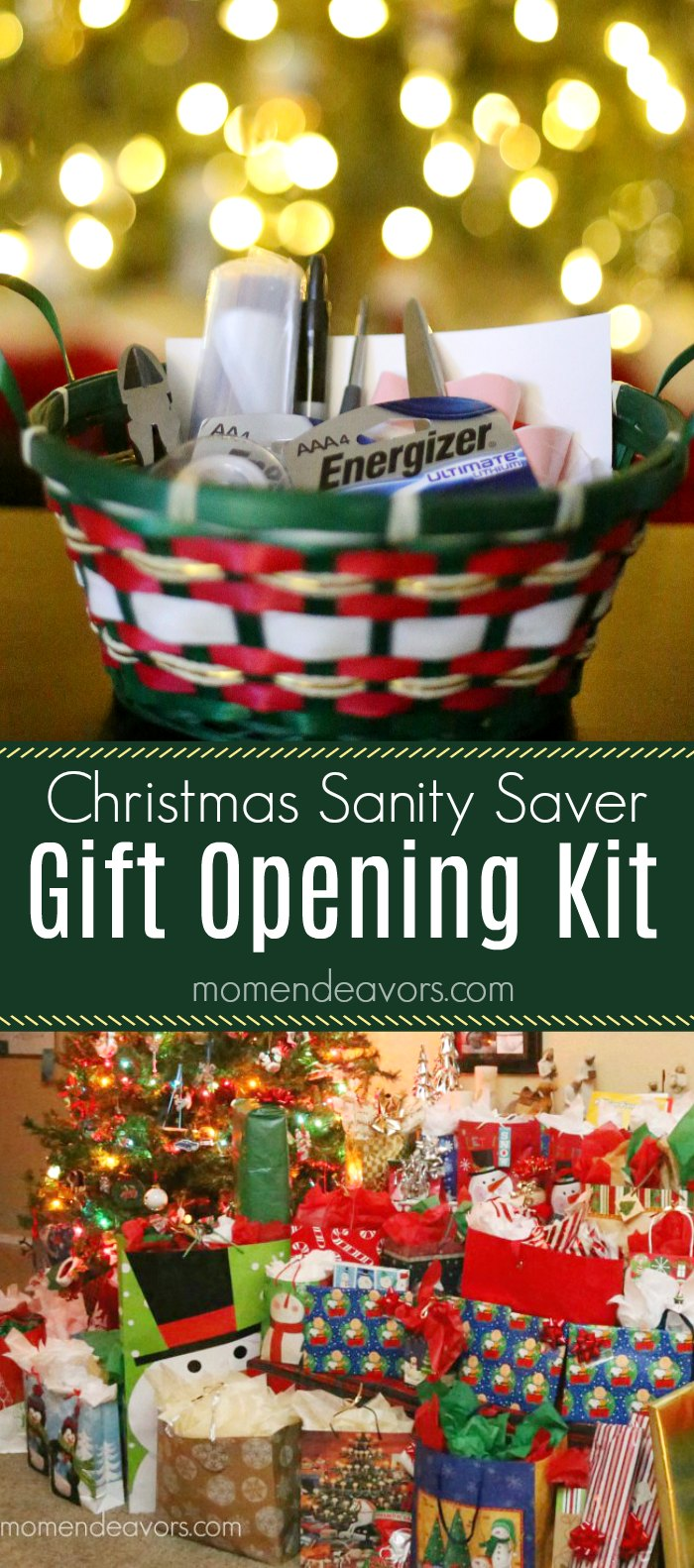 Christmas Sanity Saver Gift Opening Kit