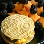 Death Star Pancake Breakfast Sandwich