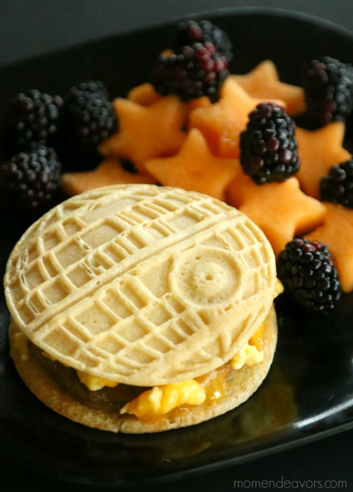 Death Star Pancake Breakfast Sandwich
