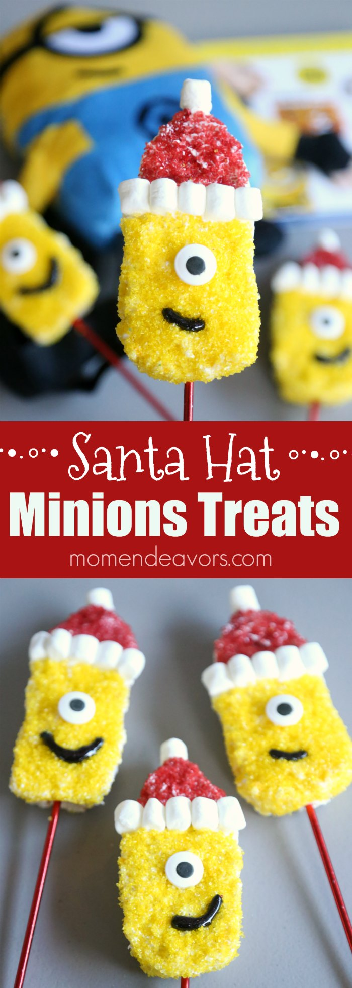 Santa Hat Minions Treats