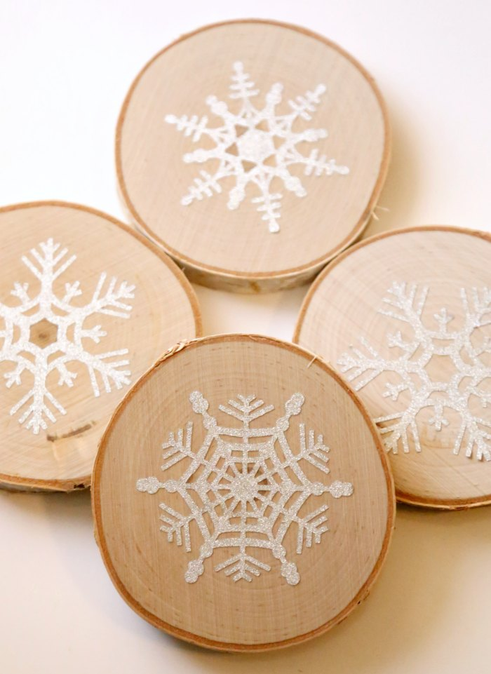 Simple Snowflake Coasters