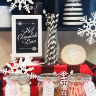 Snowflake Hot Cocoa Bar {+ Cricut Cut Files}