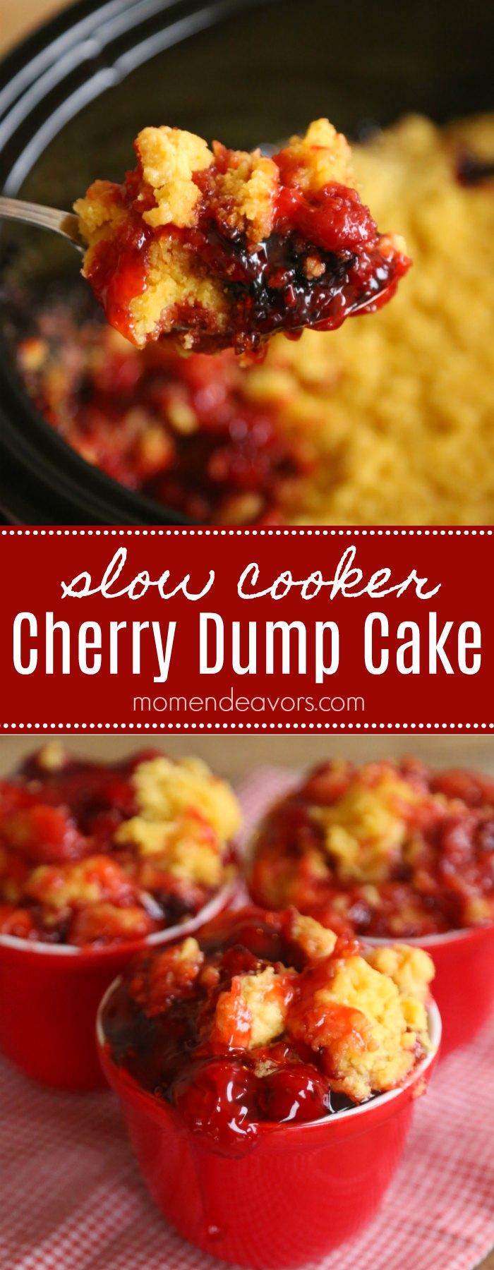 Slow Cooker Cherry Dump Cake Recipe