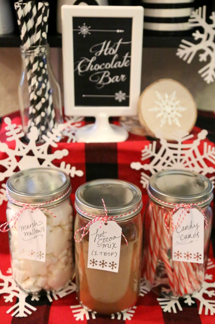 Snowflake Hot Chocolate Bar