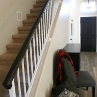 How to Paint an Oak Banister Black