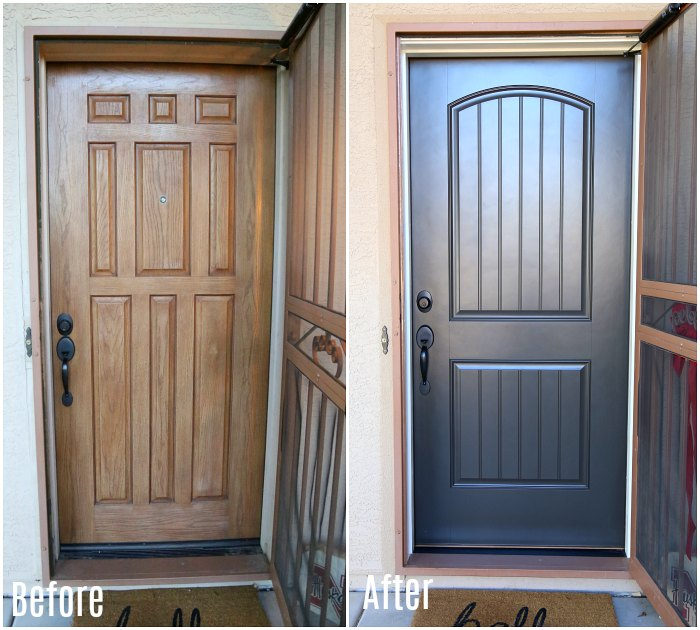 Front Door Makeover Before & After
