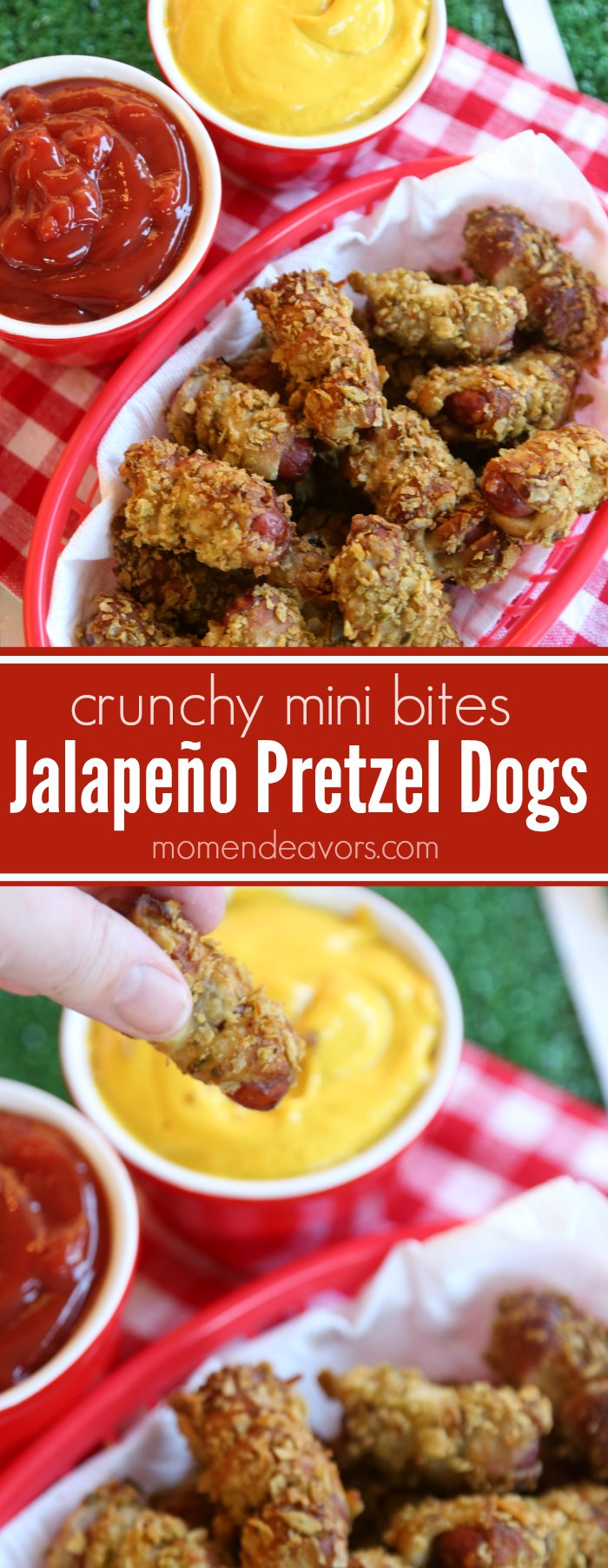 Mini Jalapeño Pretzel Dogs