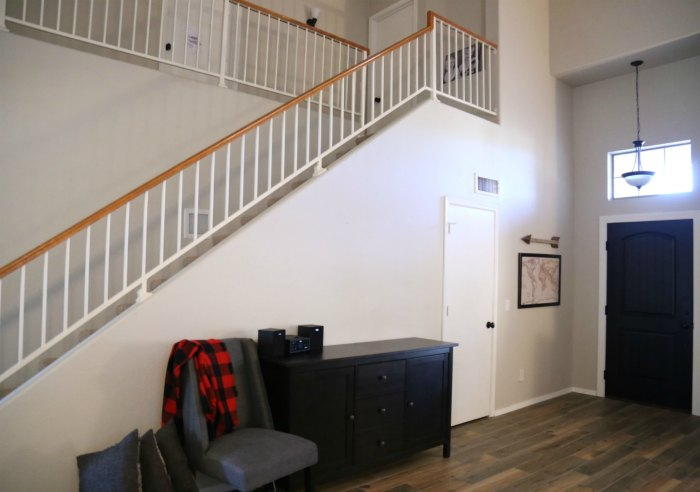 Orange Oak Banister makeover
