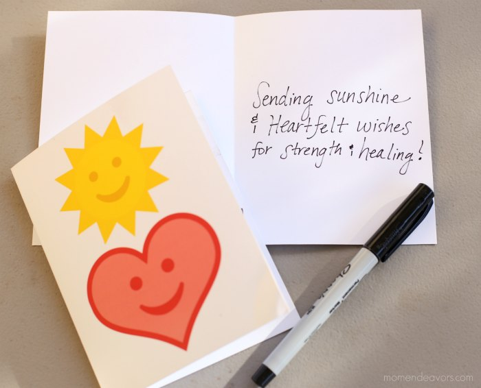 Printable Sunshine Heart Card