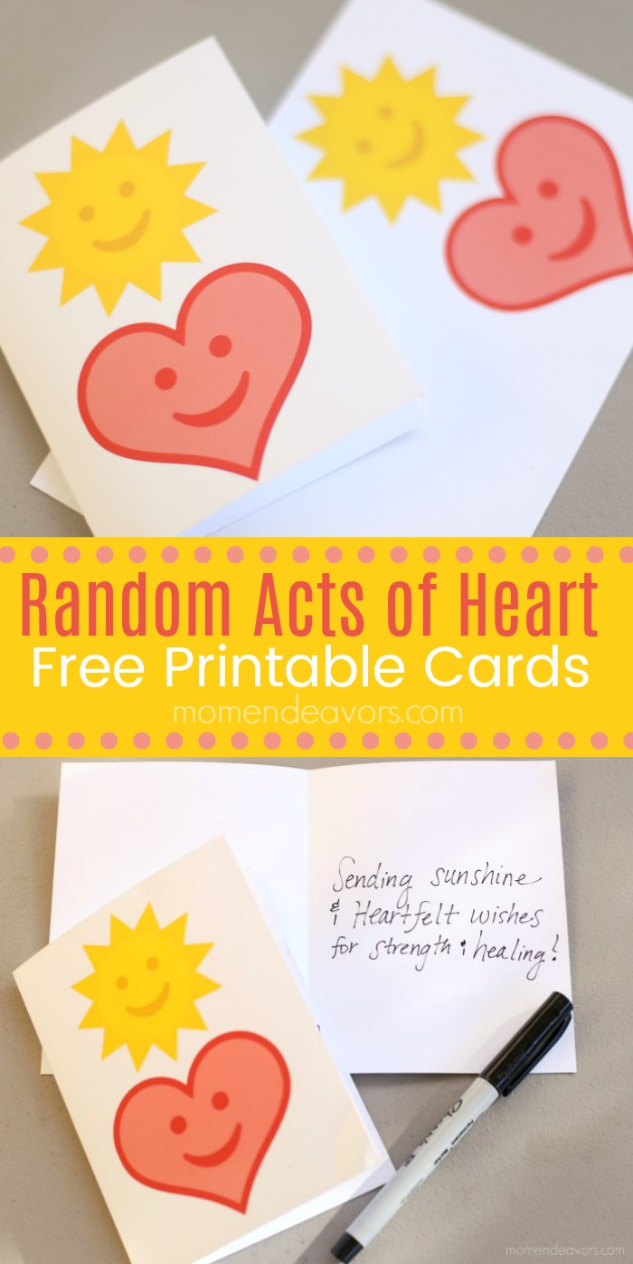 Random Acts of Kindness Printable Cards