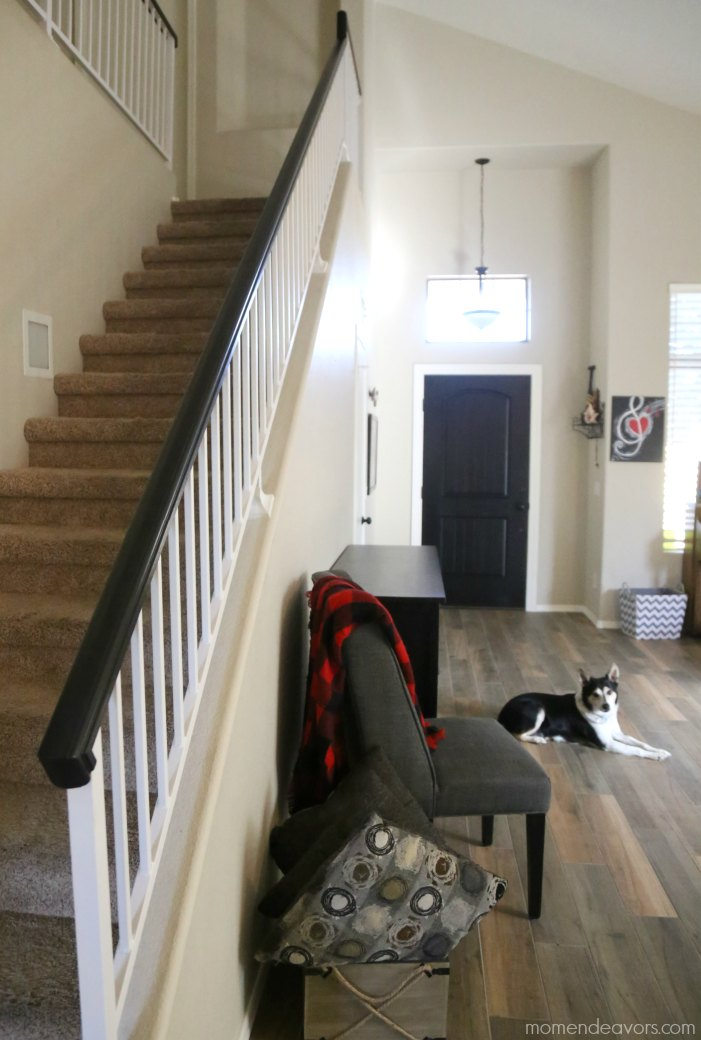 Black Banister Living Room