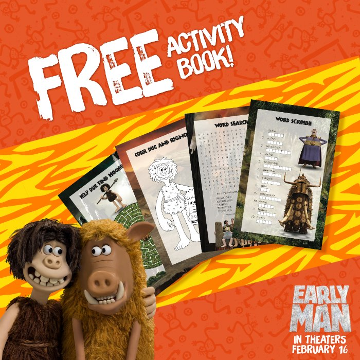 Early Man Movie Activities