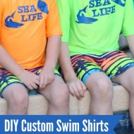 DIY Custom Swim Shirts with Cricut SportFlex Iron-On