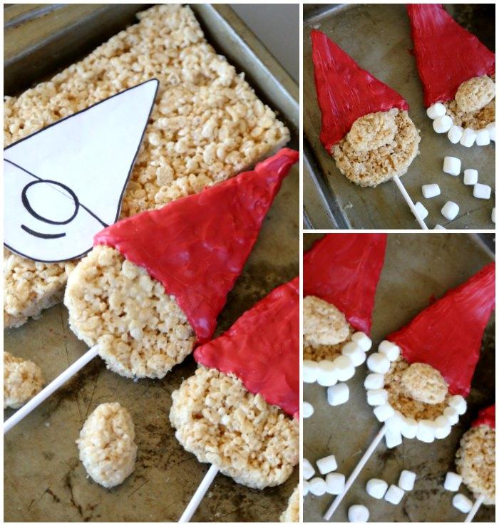 Making Gnome Krispie Treats