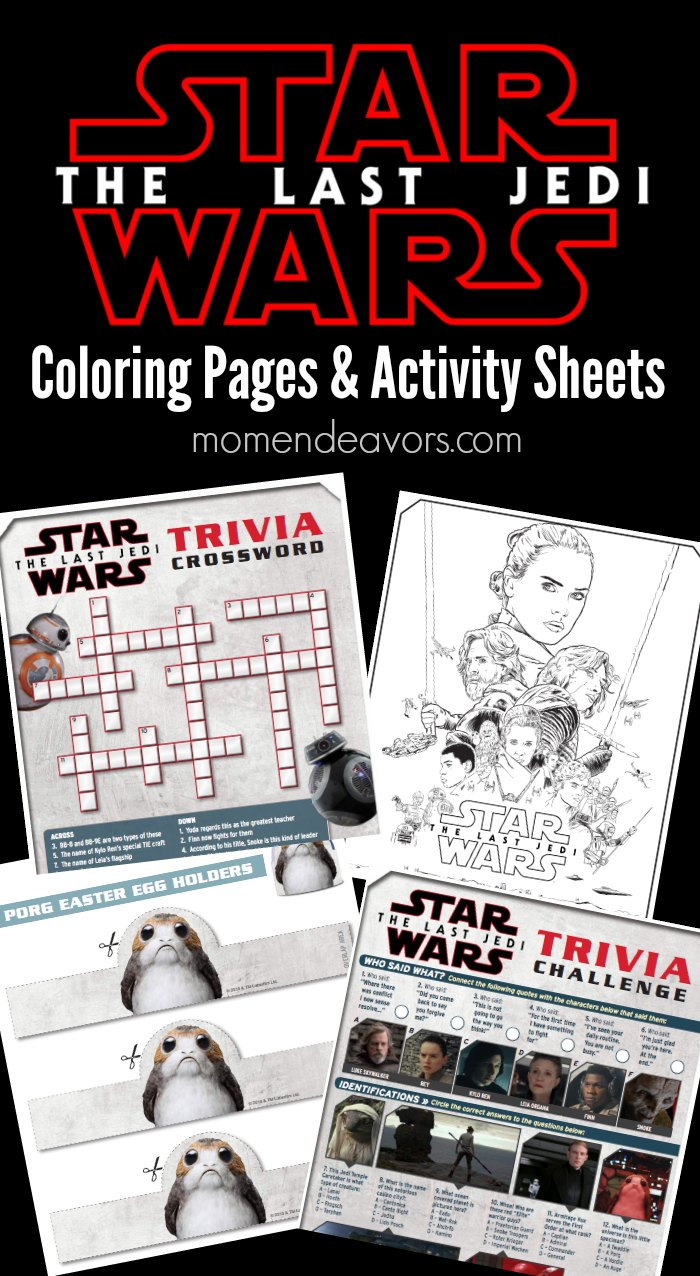 Star Wars The Force Awakens Printable Activity Sheets
