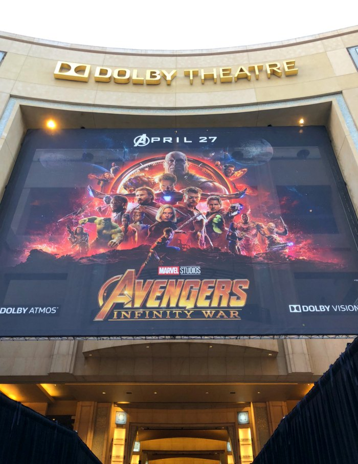 Dolby Theater Avengers Premiere