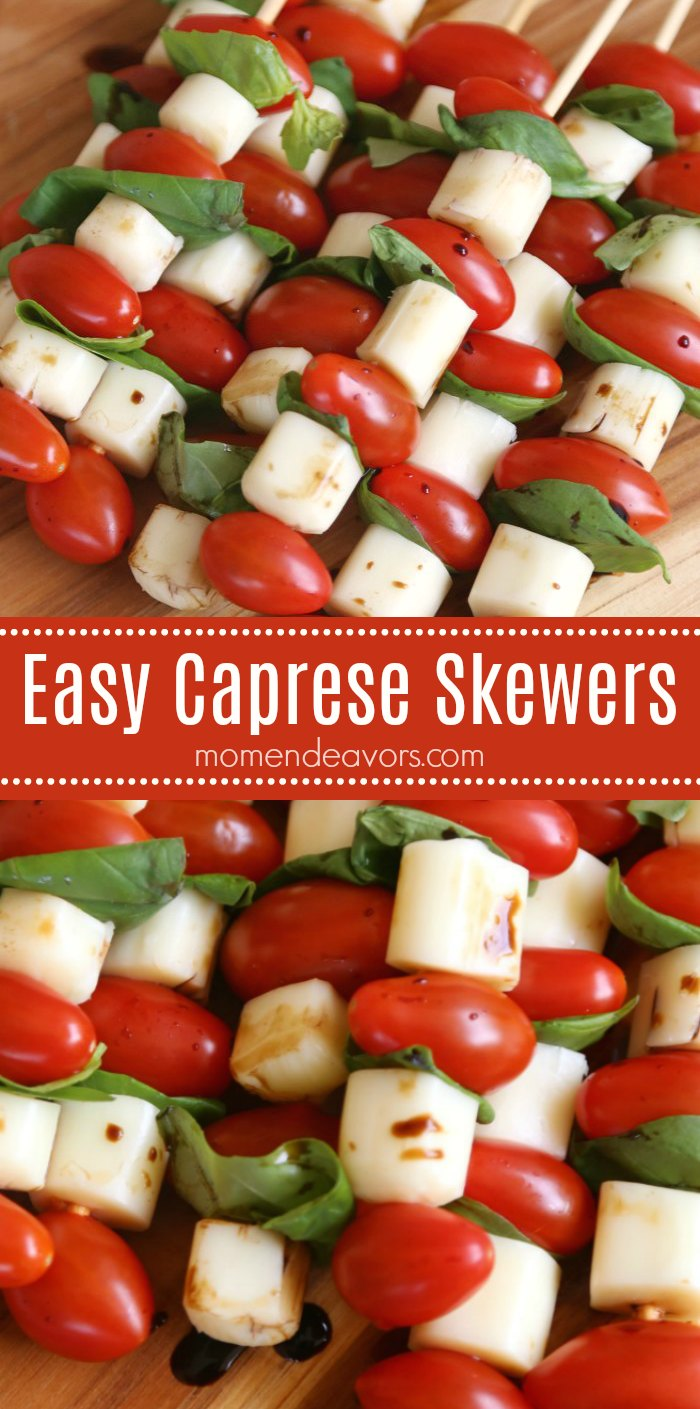 Easy Caprese Skewers Recipe