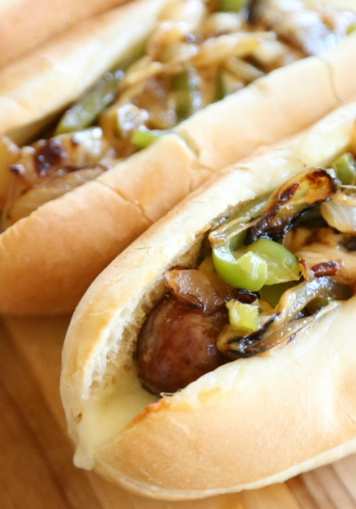 Philly Cheesesteak Bratwurst
